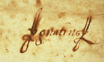 Firma autógrafa de san Ignacio de Loyola