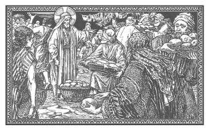 Y los dio a sus discípulos para que los distribuyesen entre las gentes