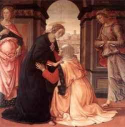 Apenas oyó Isabel el saludo de María,  exultó el niño en su seno, y fue Isabel  henchida del Espíritu Santo. (San Lucas, 1. 41).