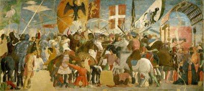 Piero della Francesca: Batalla de Heraclio contra Cosroes II (Storie della Vera Croce, Arezzo)