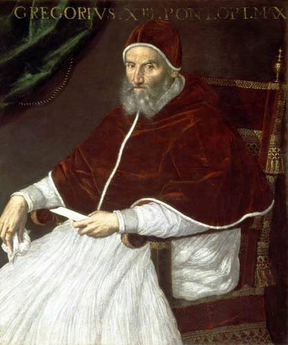 GREGORIO XIII (1502-1585), Pope Portrait: Lavinia Fontana