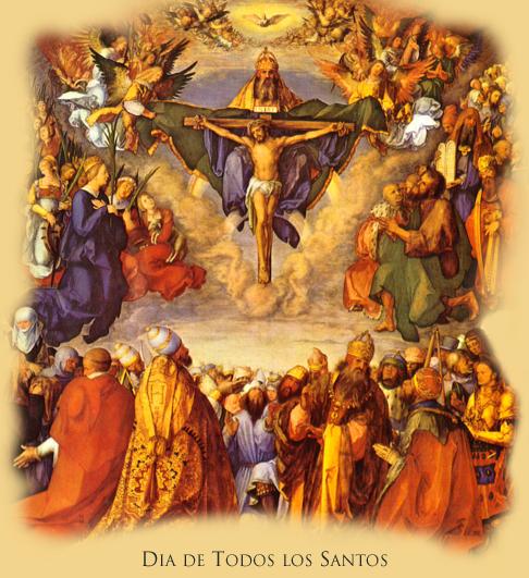 ¡Oh Señor! te rogamos que por los méritos de tantos intercesores , nos concedas la deseada abundancia de tu gracia. (De la Oración-Colecta de la Misa del día)