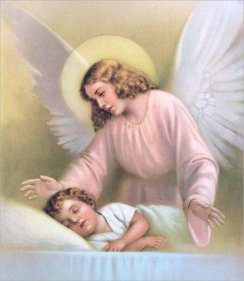 Ángel de mi guarda, dulce compañía: no me desampares ni de noche ni de día, ni me dejes solo, que me perdería.