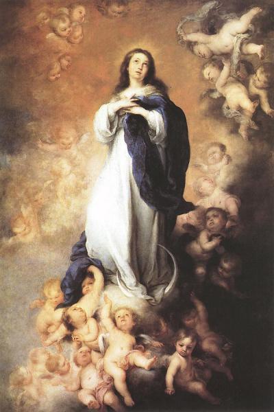 Toda hermosa eres, María, y la mancha original no se halla en ti.