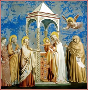 Cumplido asimismo el tiempo de la purificación de la madre, según la ley de Moisés, llevaron el niño a Jerusalén, para presentarlo al Señor. (San Lucas 2, 22).