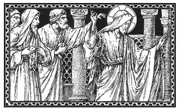 Tomaron piedras para lanzárselas; mas Jesús se escondió y salió del Templo..