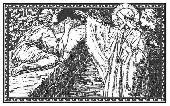 Y díjole Jesús: Ve; tu fe te ha salvado