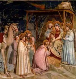 Hallaron al Niño con María, su Madre, y prosternándose lo adoraron; y abiertos sus cofres le ofrecieron presentes de oro, incienso y mirra. (San Mateo, 2, 11).