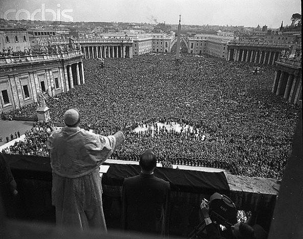 El Papa Pío XII en la Pascua Florida de 1956
