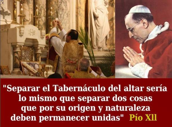 Cita sobre el tabernaculo de Pio XII