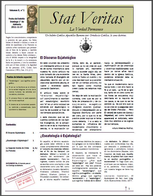 Boletín Stat Veritas No.8