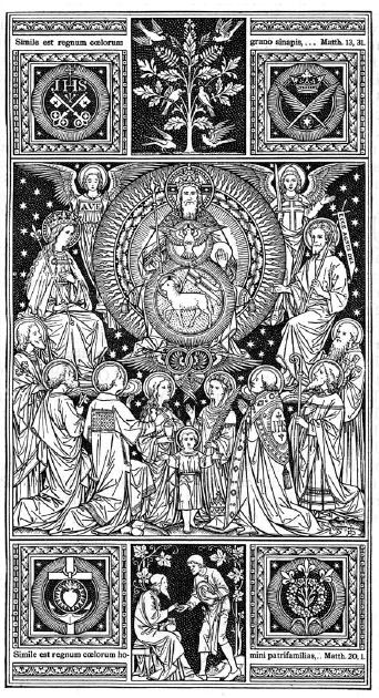 Gaudeámus omnes in Dómino, diem festum celebrántes sub honóre Sanctórum ómnium: de quorum sollemnitáte gaudent Angeli et colláudant Fílium Dei.