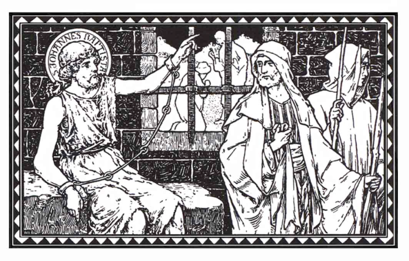 Juan envió dos discípulos a Cristo