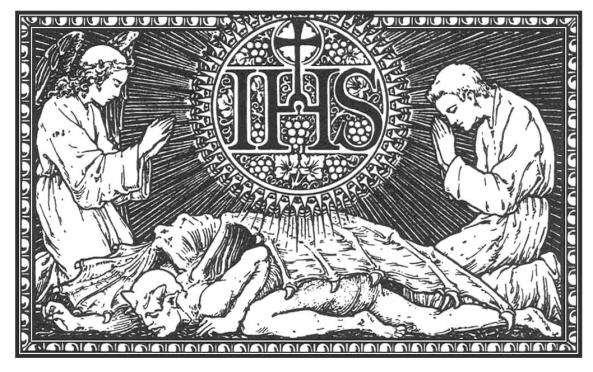 Que al Nombre de Jesús doblen la rodilla todas las criaturas del cielo, tierra e infierno.