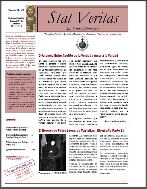 Boletín Stat Veritas No.11-Año 1-T.Carta