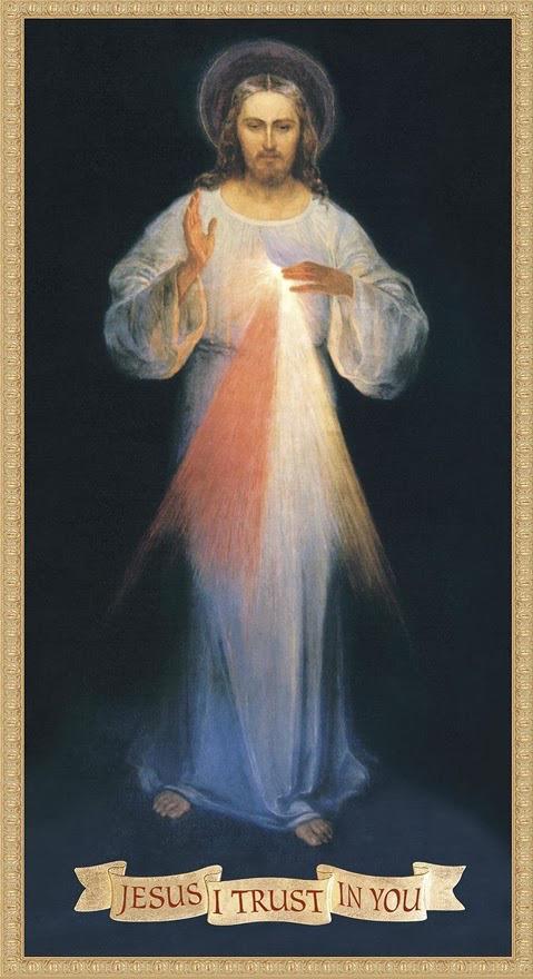 """Esta fue la primera imagen en la que Sor Faustina dijo ver a Jesús como """"la Divina Misericordia"""".   Imagen que fue censurada por el Santo Oficio en 1958 y en 1959 ."""