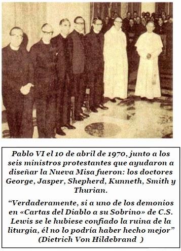 Pablo VI destruyendo la Misa de siempre NCSJB