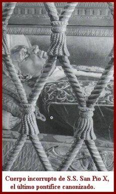San Pío X incorrupto