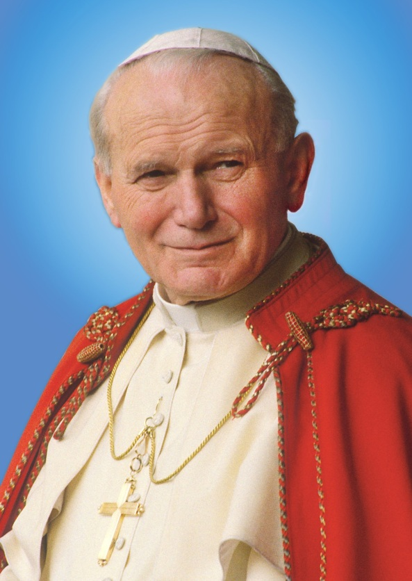 Beato Juan Pablo II - foto oficial - flip
