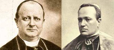 Obispo Tedeschi y Cardenal Ferrari.