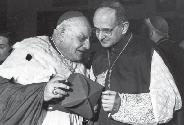 Roncalli (electo Juan XXIII), nombró cardenal a Montini, a sabiendas de la inhabilidad de éste por Pío XII (recuérdese que Montini trabajaba con Alighiero Tondi como espía para la Unión Soviética).