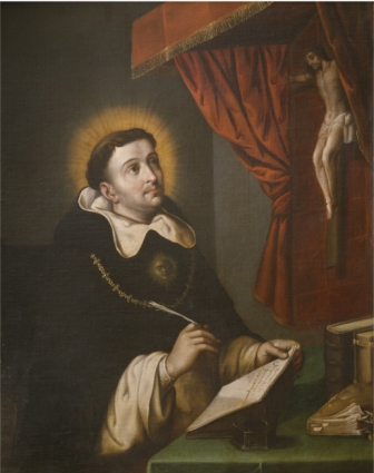 """Santo Tomás de Aquino, interpreta el pasaje """"Ut unum sint"""" (que todos sean uno) refiriéndose a la identificación plena del alma con Jesús."""