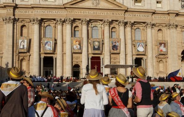 Canonización en San Pedro -Octubre de 2012