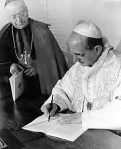 El Card. Gut con el Papa Pablo VI