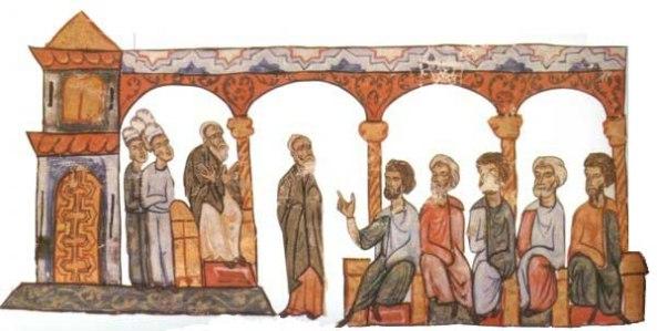 Patriarca Focio (con la mano alzada durante su juicio)