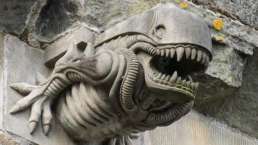 La gárgola del alien de la abadía de Paisley Abbey- WIKIPEDIA