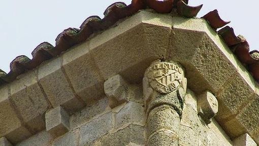 Iglesia de Santa María la Mayor en Trujillo – El escudo del Athletic de Bilbao TWITTER