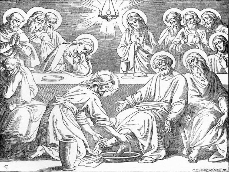 Ultima Jesus lava los pies de los discipulos